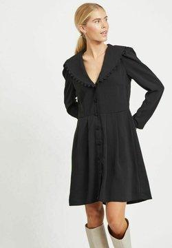Vila - MIT V-AUSSCHNITT KNOPFLEISTEN - Vestido camisero - black