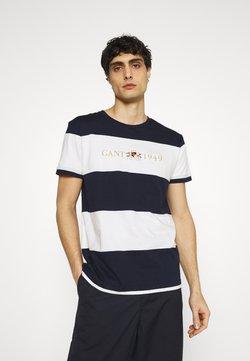 GANT - FLAG CREST - T-Shirt print - classic blue