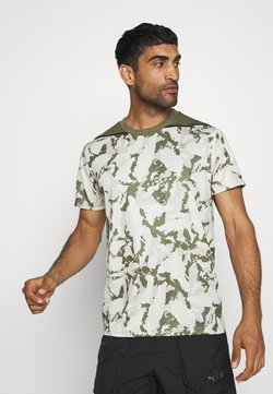 Puma - FIRST MILE CAMO TEE - Printtipaita - pebble