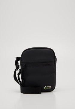 Lacoste - FLAT CROSSOVER BAG UNISEX - Sac bandoulière - noir