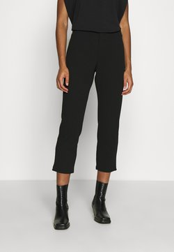 Zign - TAPERED CROPPED TROUSERS - Pantaloni - black