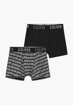s.Oliver - 2 PACK  - Shorty - super black
