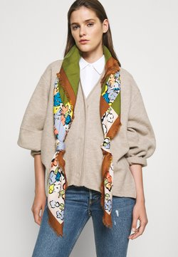 Tory Burch - COLOR BLOCK PAINTED FLORAL OVERSIZED SQUARE - Huivi - multicoloured