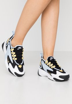 Nike Sportswear - ZOOM 2K - Sneaker low - black/metallic gold/white/sail/gym red