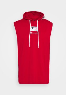 Champion - HOODED SLEEVELESS - Top - red