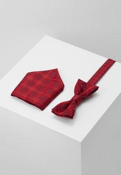 Only & Sons - ONSTOBIAS BOW TIE BOX HANKERCHIE SET - Einstecktuch - pompeian red