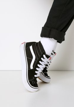 Vans - SK8 - Korkeavartiset tennarit - black/true white