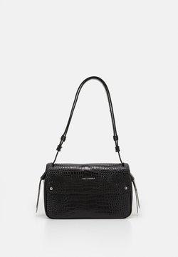 KARL LAGERFELD - IKON CROC SHOULDERBAG - Handtasche - black