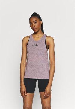 Nike Performance - CITY SLEEK TANK TRAIL - T-shirt de sport - team red/iron grey heather/reflective silver