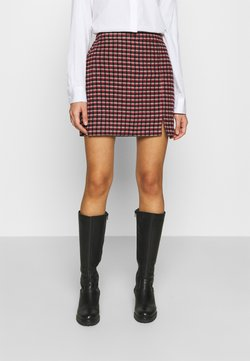 Hollister Co. - PLAID MINI NA - Minirock - red/cream/black