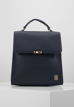 Tommy Hilfiger - SAFFIANO BACKPACK - Reppu - blue