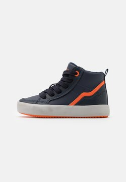 Geox - ALONISSO BOY - Sneakers hoog - navy/orange