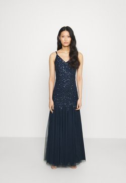 Maya Deluxe - DELICATE SEQUIN FISHTAIL MAXI DRESS - Vestido de fiesta - navy