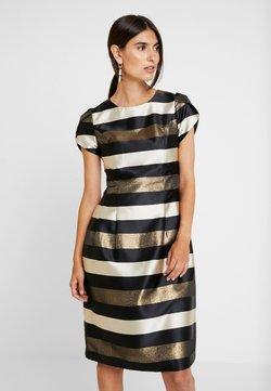 Apart - STRIPED DRESS - Cocktailkleid/festliches Kleid - black/gold/cream