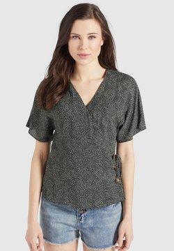 khujo - GIOVANNA - Bluse - schwarz-weiß gepunktet