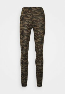 Kaffe - KAPAPPI  - Leggings - Hosen - green/brown
