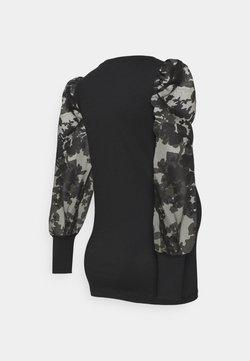 MAMALICIOUS - MLABELINE - Camiseta de manga larga - black
