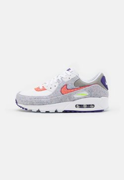 Nike Sportswear - AIR MAX 90 UNISEX - Sneakers - white/electric green/court purple