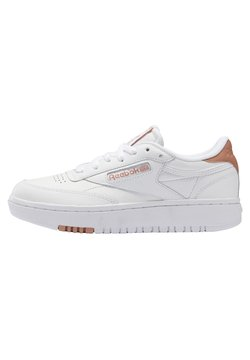 Reebok Classic - CLUB C DOUBLE - Sneaker low - white/white/ruscly
