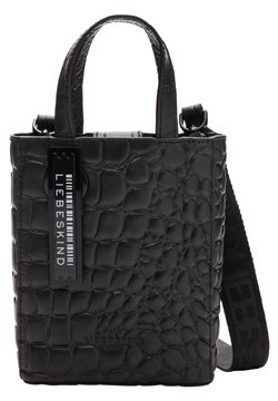 Liebeskind Berlin - PAPER BAG KROKO TOTE XS TRAGETASCHE MIT KROKOPRÄGUNG - Shopping Bag - black