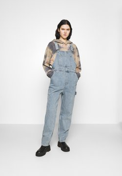 Monki - CIARA DUNGAREES - Dungarees - blue medium dusty