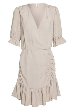 Nly by Nelly - FLIRTY RUCHED DRESS - Vestido informal - beige