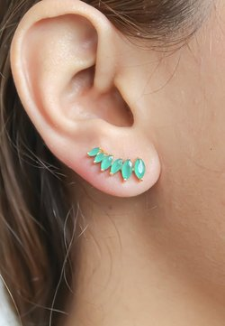 Bombay Sunset - STEPPING STONE CLIMBER - Pendientes - green