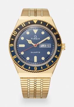 Timex - Q DIVER UNISEX - Montre - gold-coloured/blue