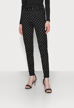 ONLY Tall - ONLPOPTRASH EASY DOT PANT PNT TALL - Stoffhose - black
