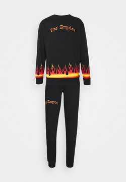 274 - FLAME TRACKSUIT - Sweatshirt - black