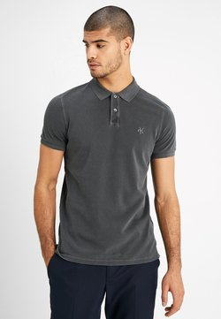 Marc O'Polo - SHORT SLEEVE RIB DETAILS - Poloshirt - pirate black