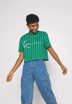 Karl Kani - SIGNATURE PINSTRIPE TEE - T-Shirt print - green