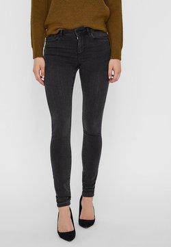 Vero Moda - JEANS WAIST - Slim fit jeans - dark grey denim