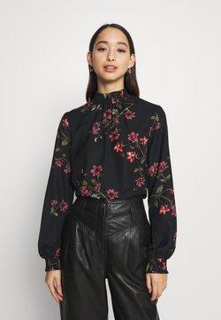 Vero Moda - VMGALLIE HIGH NECK SMOCK - Bluse - black