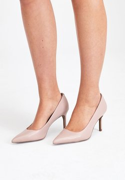 Next - BLACK SUEDE COURT SHOES - High Heel Pumps - beige