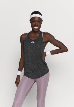 Nike Performance - AIR TANK - Funktionsshirt - black/iron grey/silver