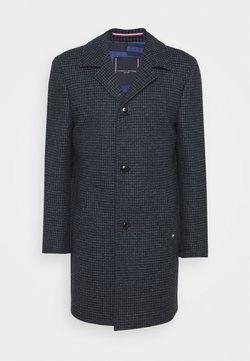 Tommy Hilfiger Tailored - HOUNDSTOOTH DESIGN OVERCOAT - Villakangastakki - blue