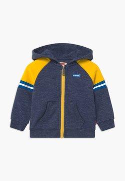Levi's® - COLORBLOCK FULL-ZIP HOODIE - Hoodie met rits - dark blue/yellow