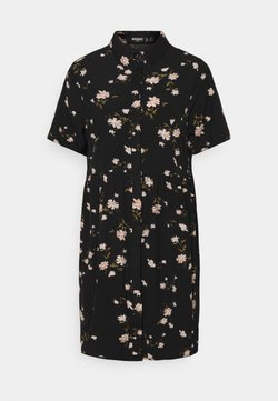 Missguided Tall - SMOCK DRESS POLKA - Robe d'été - black