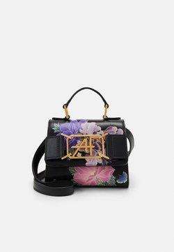 Alberta Ferretti - MEDIUM FLORAL TOP HANDLE - Handtasche - fantasy black