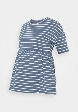MAMALICIOUS - MLOTEA - Camiseta estampada - china blue/snow white