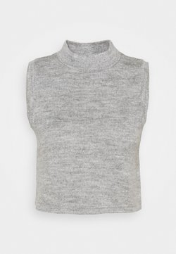 Noisy May - NMTERRY VEST - Top - light grey melange