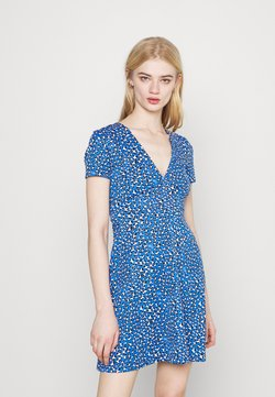 Tommy Jeans - FLARE LEO PRINT DRESS - Vestido ligero - blue