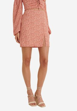 NA-KD - A-Linien-Rock - painted floral coral
