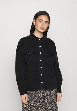 ICHI - IHOLINA - Button-down blouse - washed black