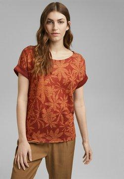 Esprit Collection - LEAF - T-Shirt print - terracotta