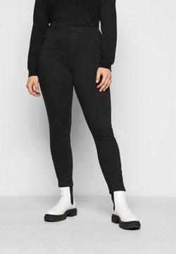 Vero Moda Curve - VMTILDE ANKLE ZIP - Jeans Tapered Fit - black denim