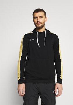 Nike Performance - DRY HOODIE - Langarmshirt - black/saturn gold/white