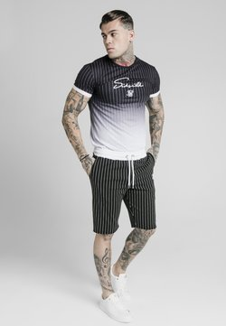 SIKSILK - SIGNATURE GYM TEE - Print T-shirt - black & white