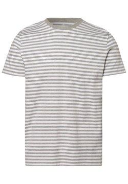 Nils Sundström - T-Shirt print - grau weiß